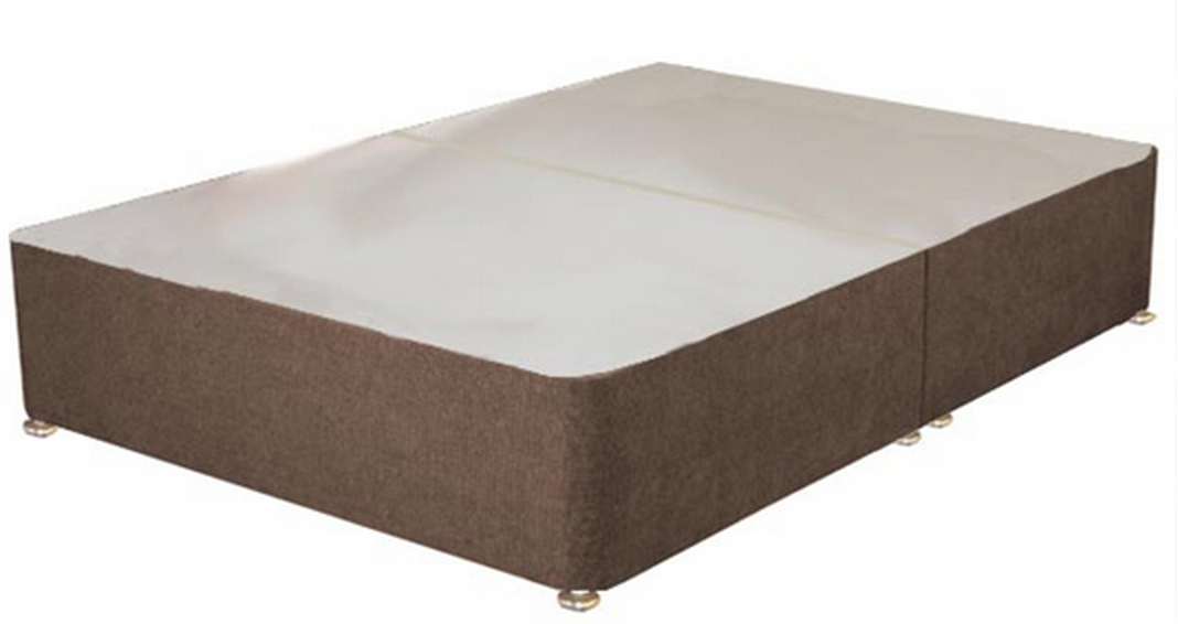 Fabric padded divan base bf beds cheap beds leeds for Cheap single divan bed base