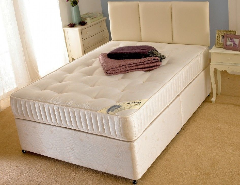 Supreme plus divan bf beds leeds for Cheap single divan with drawers