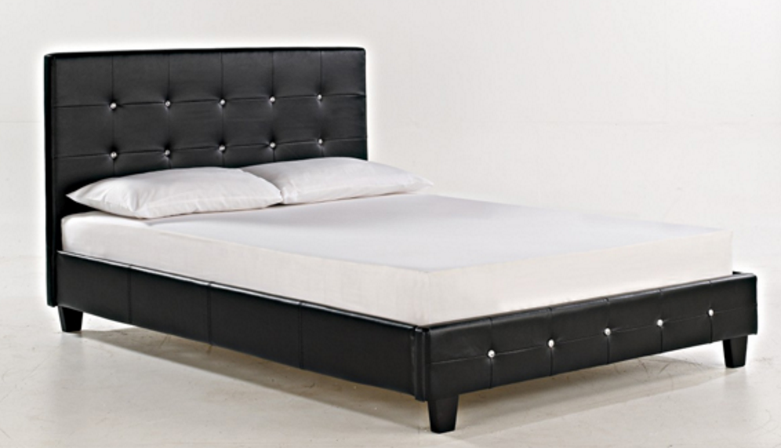 Diamante sleigh bed bf beds cheap beds leeds for Cheap double divan bed frames