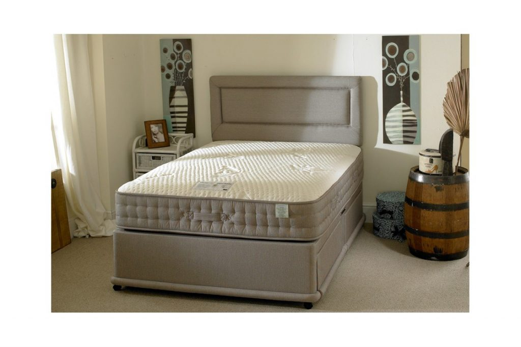 Bamboo 1000 pocket spring divan bed bf beds leeds for Cheap king size divan beds with storage