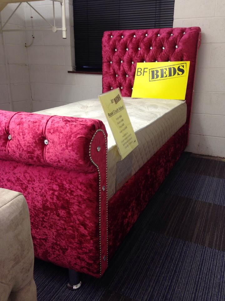 Crushed Velvet Beds All The Latest Styles Nationwide