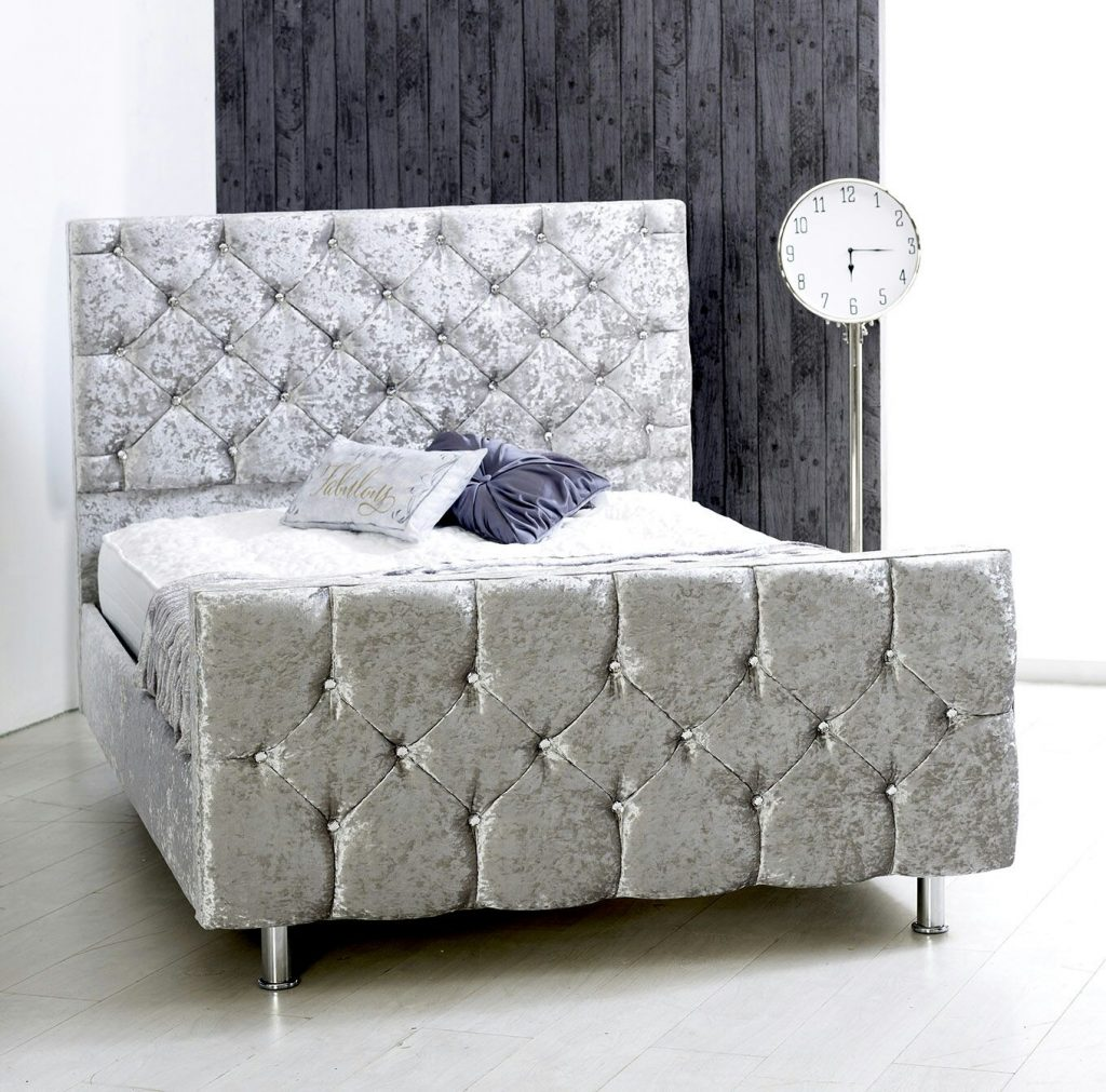 Matilda Crushed Velvet Bedstead New To Bf Beds