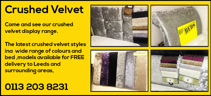 Full range of crushed velvet beds