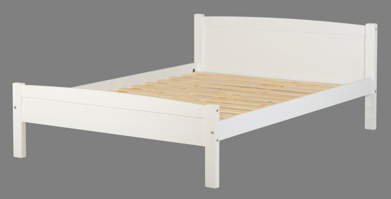 Amber white 4ft6 wooden bed