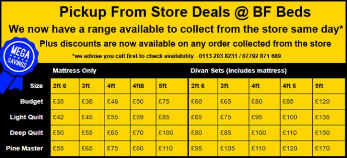Collect from store bed deals Leeds
