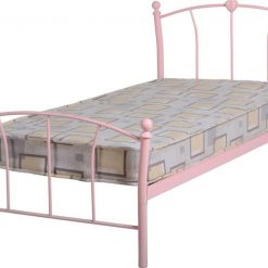 Catlin 3ft pink metal bed